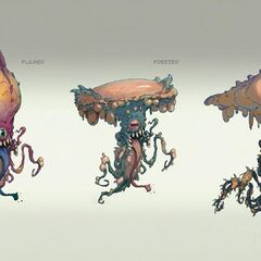 Concept art of floaters in <i>Fallout 76</i>
