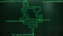 Fort Bannister bunker map