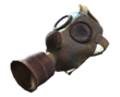 Gas mask with goggles