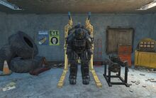 CC Hellfire power armor jet pack front