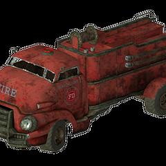 Camp Searchlight fire truck