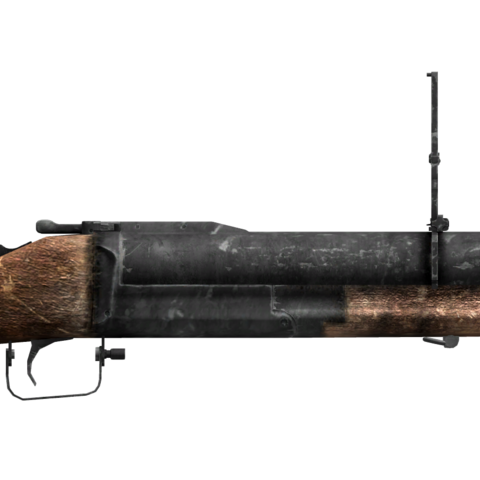 Mercenary's grenade rifle with the long barrel modification