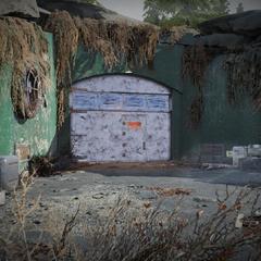 Entrance of the bunker