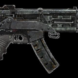 10-мм пістолет-кулемет з встановленим компенсатором віддачі.