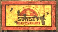 Sunset Sarsaparilla 1918 letrero