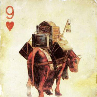 Crimson Caravan on the playing card