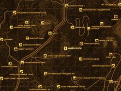 FNV Карта ХИДДЕН-ВЭЛИ
