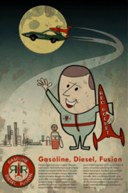 FO4 Red Rocket Gasoline Diesel Fusion poster