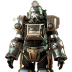 FO76 Silver excavator power armor paint