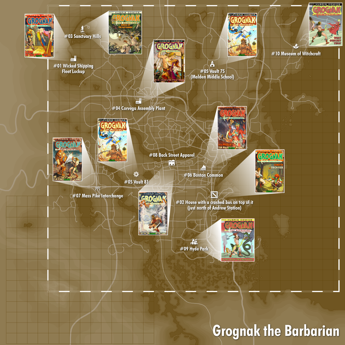 Grognak The Barbarian Fallout Fallout Wiki FANDOM Powered - Fallout game map of us