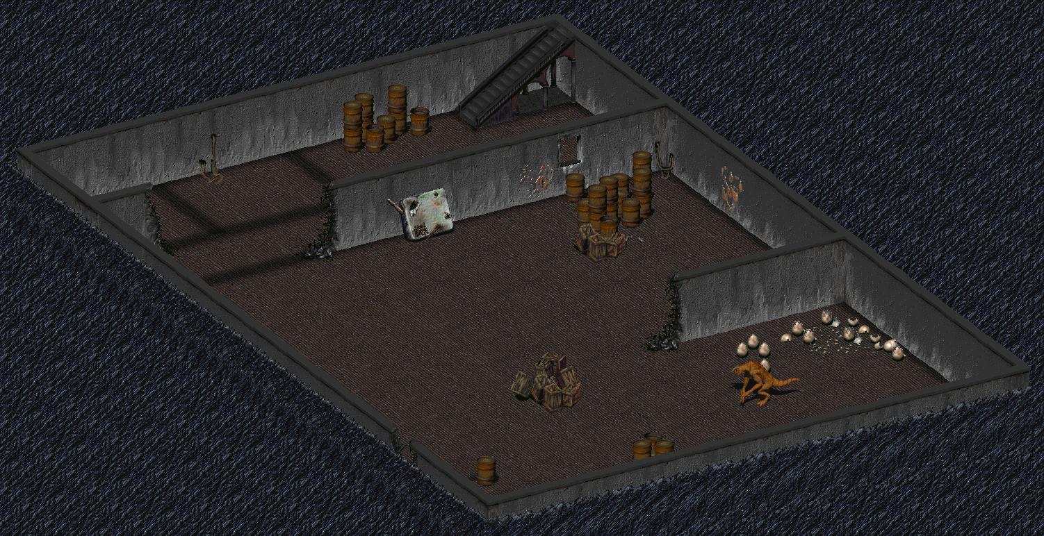FO1 Boneyard Warehouse basement