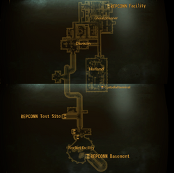 REPCONN test site basement map