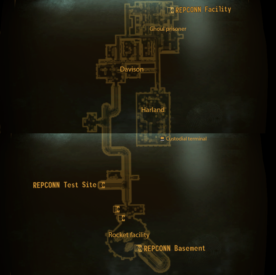 Local map basement & REPCONN test site | Fallout Wiki | FANDOM powered by Wikia