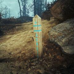 Знак на стежці