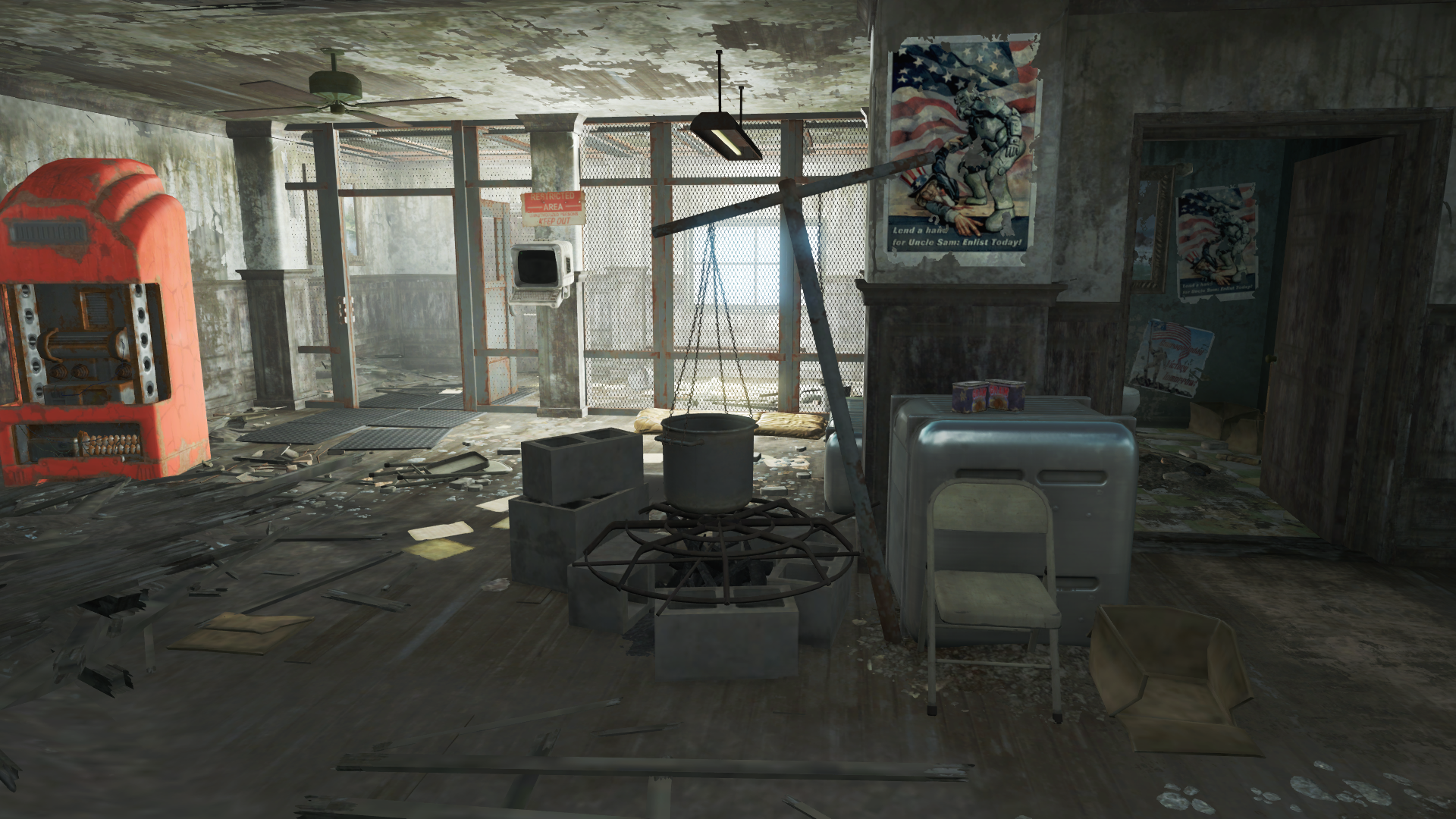 FO4 National Guard training yard into recruitment office