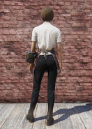 FO76 Bloody Chef Outfit Back Female