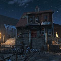 Nakano residence at night