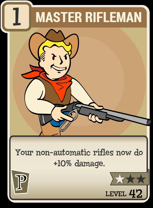 Master Rifleman   Fallout Wiki   FANDOM powered by Wikia