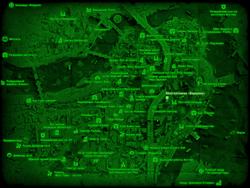 FO4 Многоэтажка «Вершина» (карта мира)