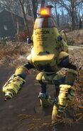 FO4 Protectron constrcting in water