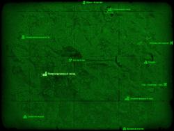 FO4 Полуразрушенный завод (карта мира)