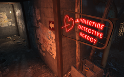 FO4 Valentine Agency neon sign