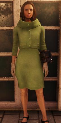 FO76 Vintage Linen Coat Female