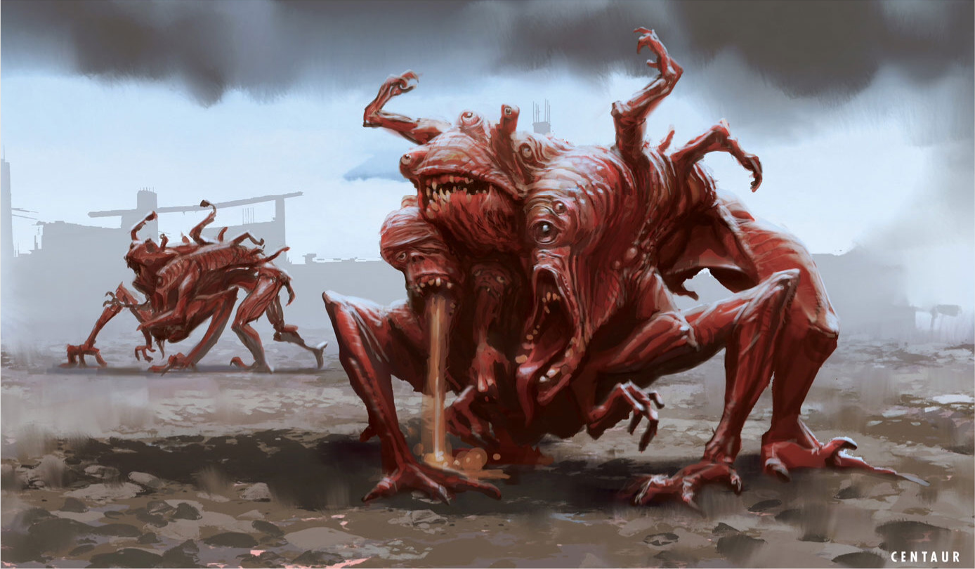 Concept Art Deathclaw Fallout 4