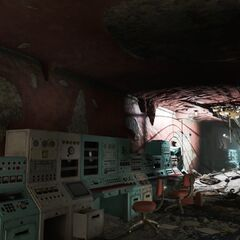 Damaged mezzanine in the command center