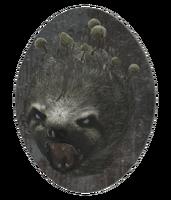 Mounted mega sloth