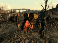FO3BS Water caravan in the Big Town