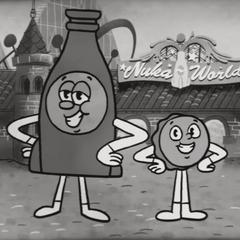 Містер Кришка і Пляшка в рекламному відеоролику <i><a href=