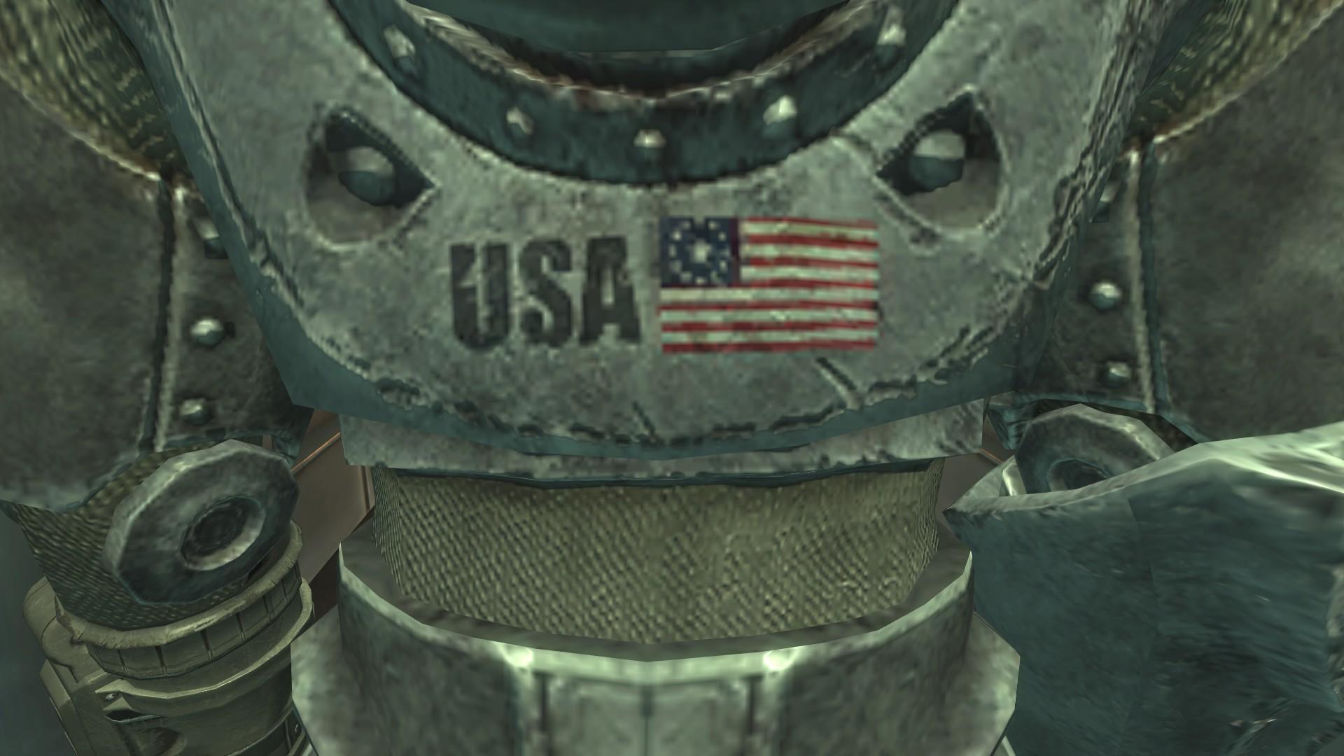 OA T51b worn US flag