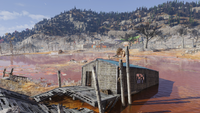 Toxic dried lakebed