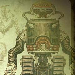 Robobrain concept art of <i>Fallout 3</i>