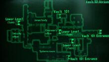Vault 101 atrium loc map
