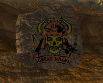 Fallout New Vegas Great Khan Sign In Red Rock Canyon (2)