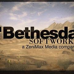 Логотип видавця на тлі скріншота з гри, з видом на <a href=