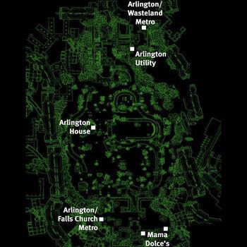 Arlington Cemetery Fallout Wiki FANDOM Powered By Wikia - Arlington cemetery on us map