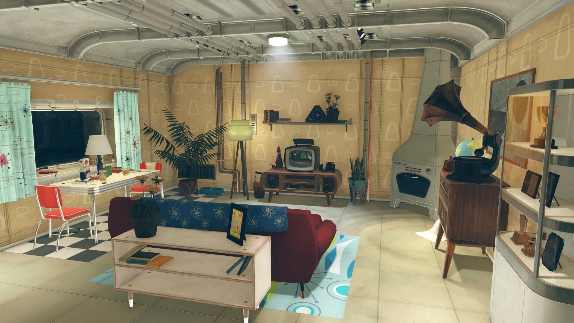 F76 Vault 76 Apartment Living Room
