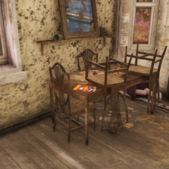 Potential magazine location inside house, first floor.