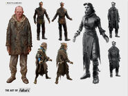 Art of Fo4 wasteland outfits concept art Wasterlanders
