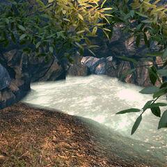 Водойму зі входом в печеру