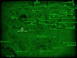 FO4 Тоннель «Масс Пайк» - запад (карта мира)