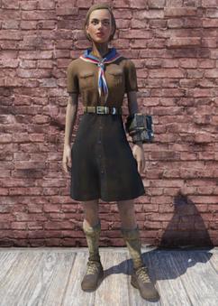 FO76 Pioneer Scout Possum Skirt