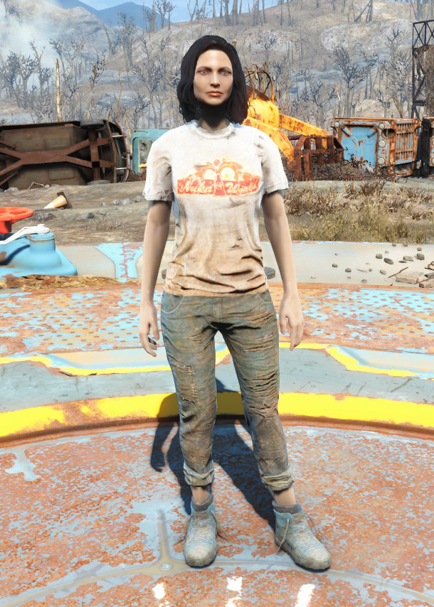 Fo4 Nuka-World Geyser Shirt and Jeans female