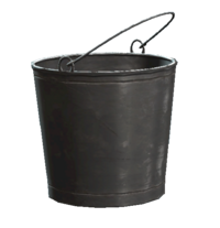 Untarnished metal bucket
