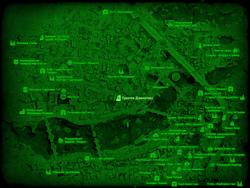 FO4 Гринтек Дженетикс (карта мира)