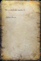 FO4 Arlen's Note