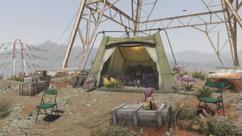 FO76 hilltop pylon camp